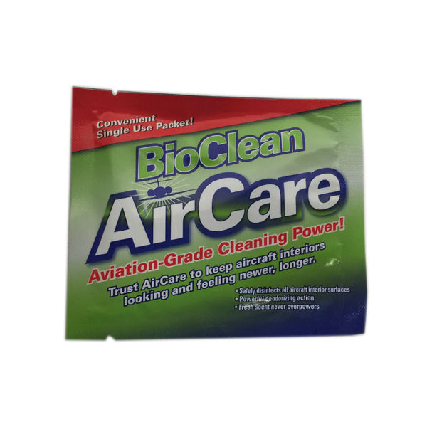 AirCare - BioClean Aircraft Disinfectant Wipes, 24 Pack