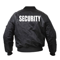 MA-1 Flight Jacket With Security Print (Back)