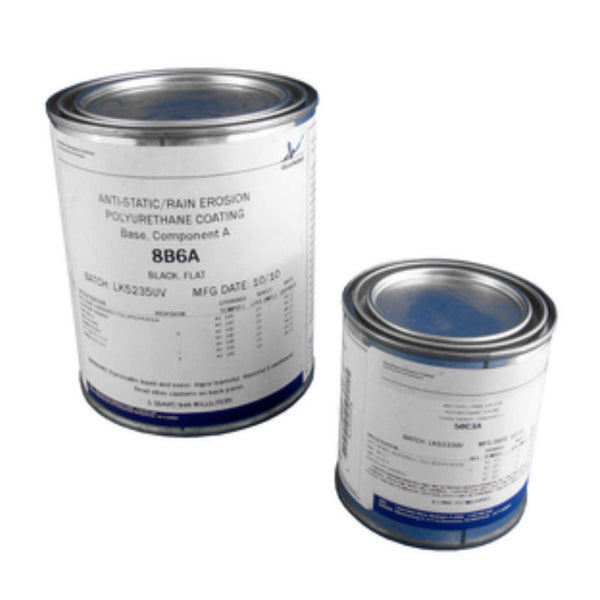 AkzoNobel - Black Anti-Static Polyurethane Conductive Coating, QT Kit | 8B6A/50C3A