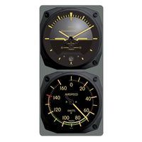 Trintec - Vintage Artificial Horizon/Airspeed Clock & Thermometer Set - C | 9063V/9061VC