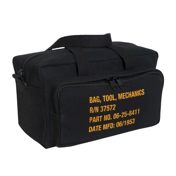 G.I. Type Zipper Pocket Mechanics Tool Bag With Military Stencil