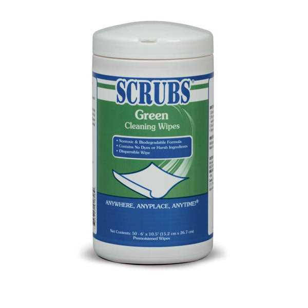 SCRUBS® Green Cleaning Wipe - 50 Wipes | 91856