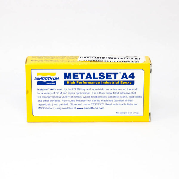 Smooth On - Metalset Aluminum Filled Epoxy Adhesive, 6 oz Kit | A4-6