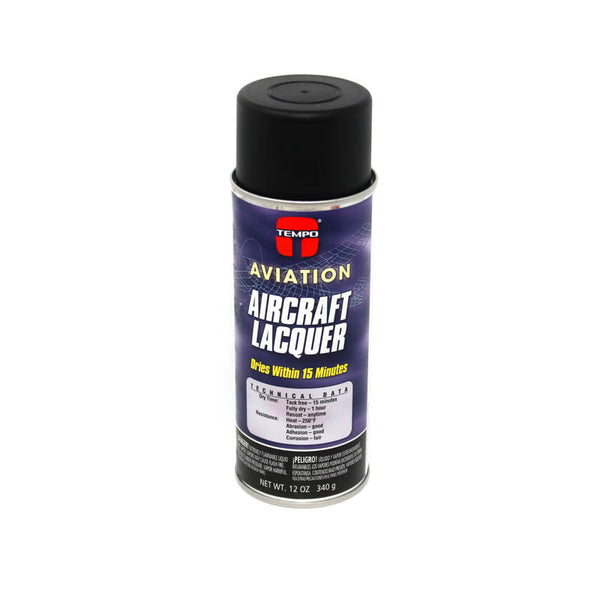 Tempo - Flat Black Lacquer Paint - 12oz | A810