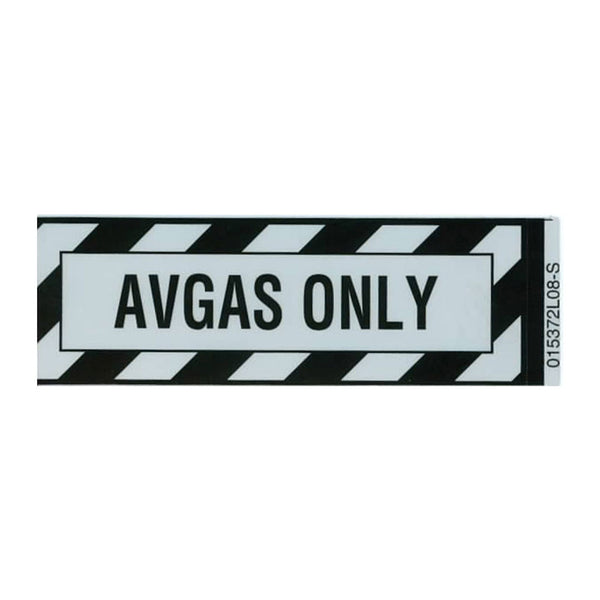 Tom Rubin Ent - AVGAS Only Placard, Sticker | A TRE 808