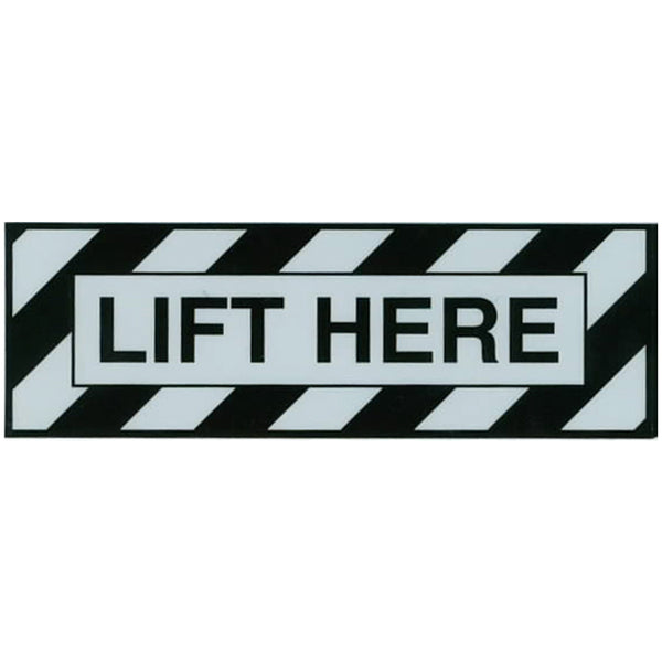 Aero Phoenix - Lift Here Placard Sticker | AAPX815