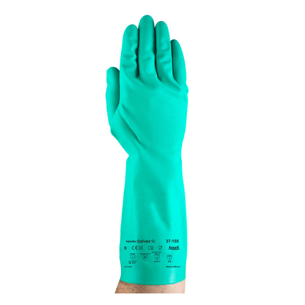 Ansell - Nitrile Chemical Resistant Gloves With Sandpatch Grip, Size 10 | ANE37-155