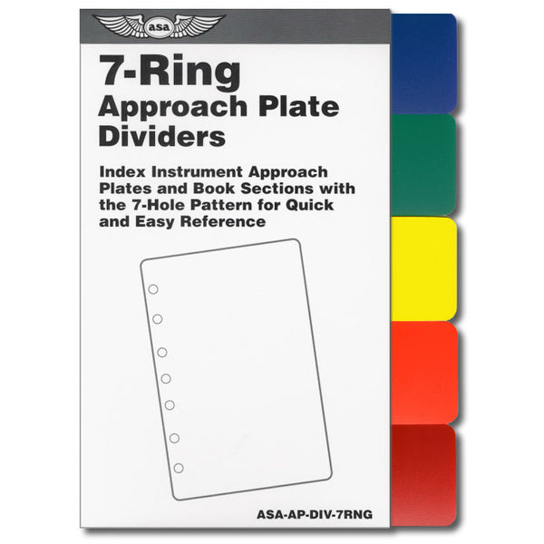 ASA - 7-Ring Approach Plate Color Dividers - ASA-AP-DIV-7RNG