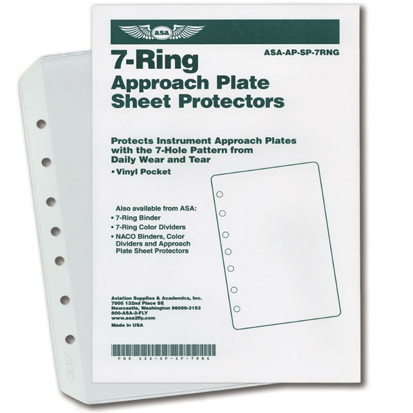 ASA - 7-Ring Approach Plate Sheet Protectors