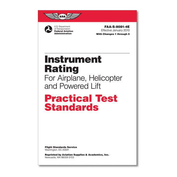 ASA - Practical Test Standards: Instrument Rating (Helicopter & Powered Lift) | ASA-8081-4E