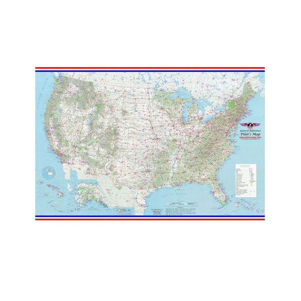 New Horizon Aviation  - Pilot'S Map USA W/ Radio Guide Wall | BNHA010-WL