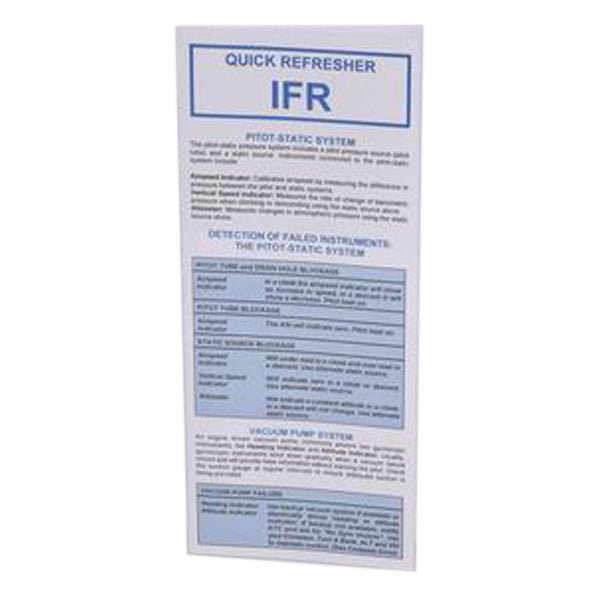RMC - IFR Quick Refresher Card | B RMC 102