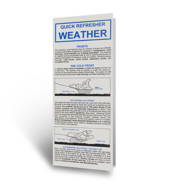 RMC - Weather Quick Refresher Card | B RMC 103