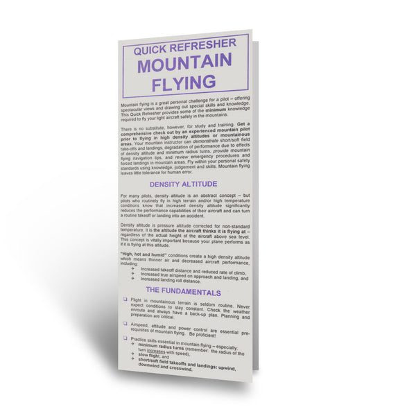 RMC - Mountain Flying Quick Refresher Card