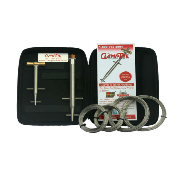 ClampTite -Stanless Steel Tool w/Case, 55 Med Tool, & Sm Wire Kit | CLTK07