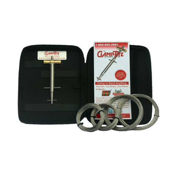 ClampTite - Stainless Steel/Alum-Bronze Tool w/ Lanyard Ext, Case,  & Sm Wire Kit | CLTK01L