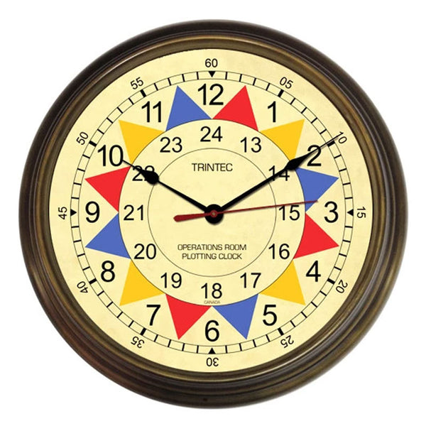 "Trintec - 14"" Operations Room Sector Clock 
