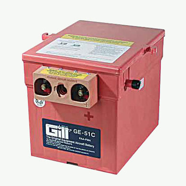 Gill - Aircraft Battery 24V | GE51C - Without Acid