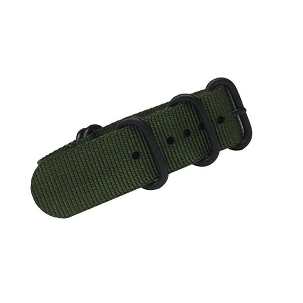 Trintec - 22MM Green Military Style Strap | GR-WS-22