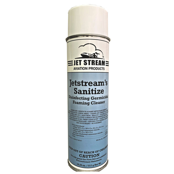 Jetstream's Sanitize - Aircraft Disinfecting Germicidal Foaming Cleaner, 18.25oz