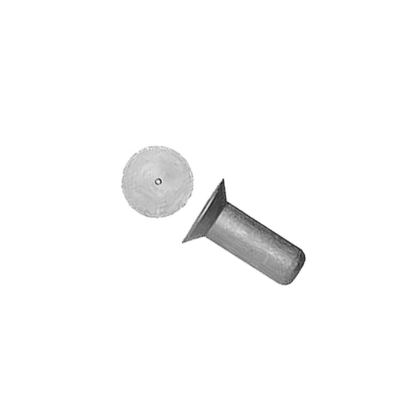 Mili Std - Aluminum 100° Flush Head Rivet, Solid, 1 lb | MS20426AD4-8