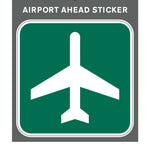 "Aero Phoenix - Sticker, Airport Ahead, 3"" X 3"" 
