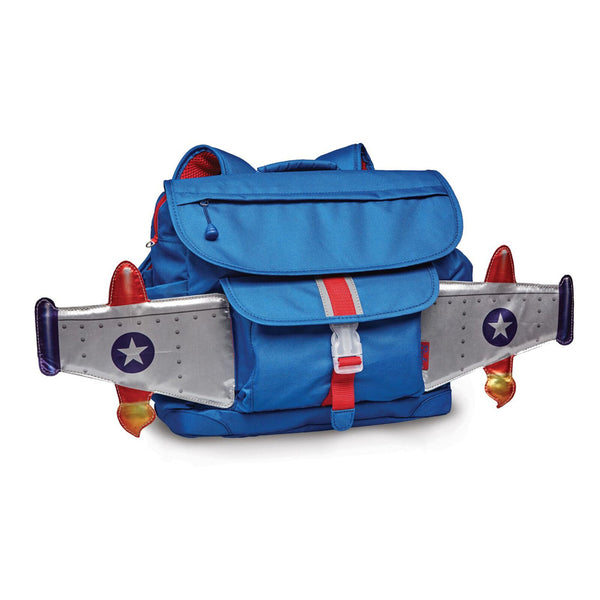 BixBee Rocket Flyer Kids Back Pack,BLUE -NBXB100-M