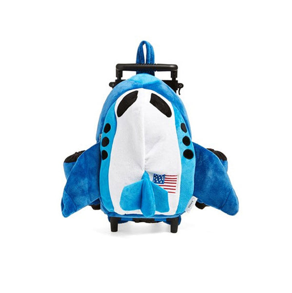 Blue Airplane Rolling Backpack | NPSH290
