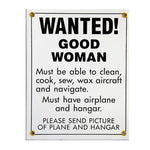 Tom Rubin Ent - Metal Sign, Wanted! Good Woman | A TRE 402