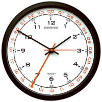 Trintec - Zulu Time Wall Clock White Face 10"