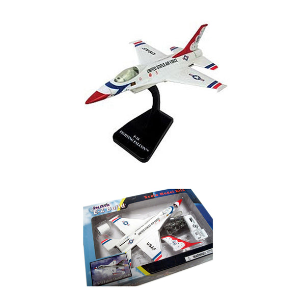 Wow Toys - E-Z Models USAF F-16 Falcon Thunderfirds | N WOW 116