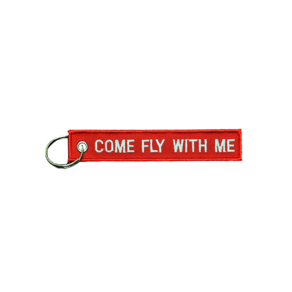 Come Fly with Me Embroidered Key Chain