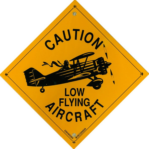 Aero Phoenix - Metal Sign, Caution Low Flying Aircraft