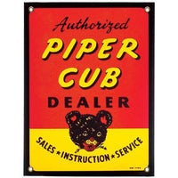 Aero Phoenix - Metal Sign, Piper Cub Dealer | N APX 415