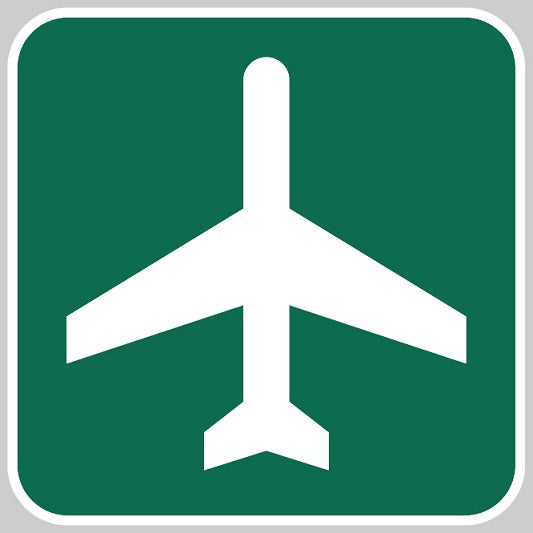 Aero Phoenix - Metal Reflective Sign, Airport Ahead | N APX 450