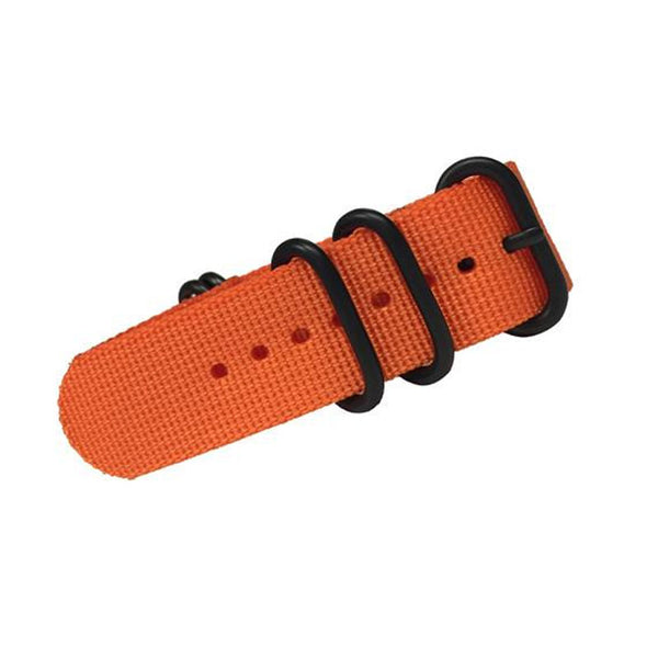 Trintec - 24MM Orange Military Style Strap | OR-WS-24