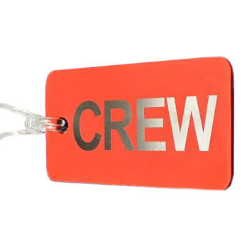 Aero Phoenix - Gelflex Double Sided Crew Tag, Red