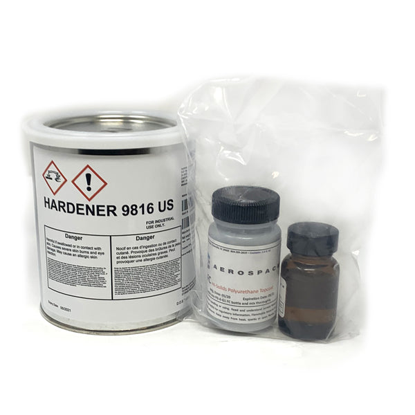 Hentzen Aerospace - Gray DN9863 Flat Polyurethane Topcoat Paint 2 oz Kit | PG6G1-20Z