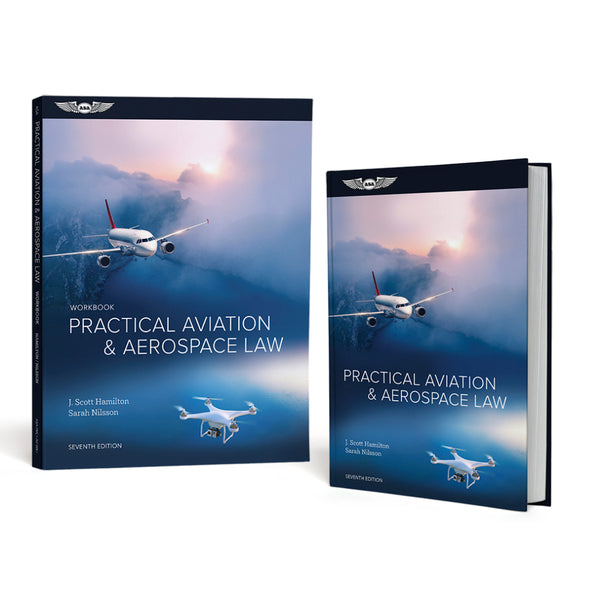 ASA - Practical Aviation & Aerospace Law Text Book and Work Book Combo