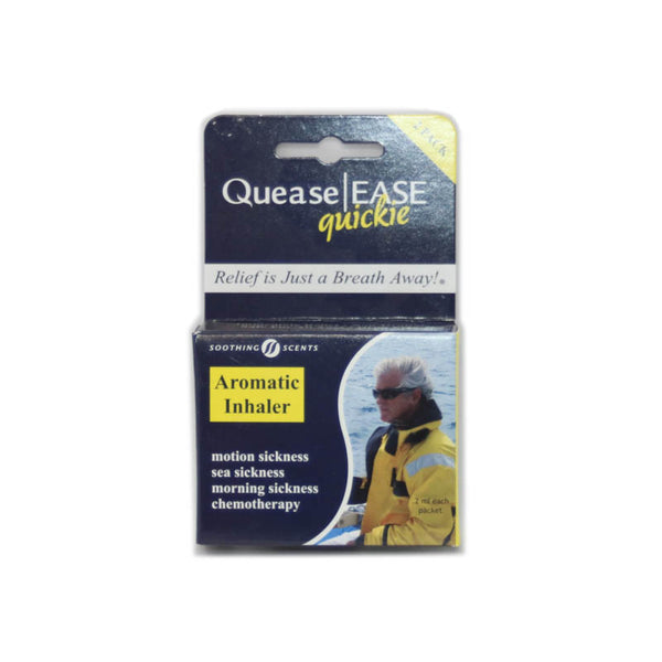 Quease Ease Quickie Inhaler - Motion Sickness Relief - 2pk