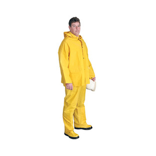 Radnor - Medium Yellow .32 mm Polyester And PVC 3 Piece Rain Suit | RAD64055901