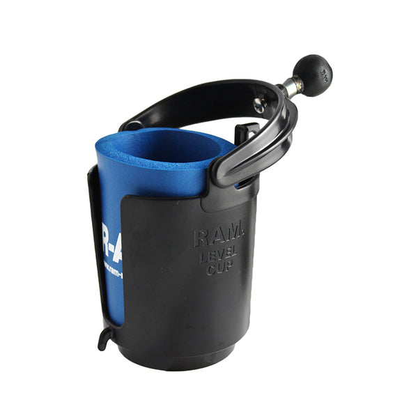 Ram - Self-Leveling Cup Holder With 1 Ball & Cozy | RAM-B-132BU
