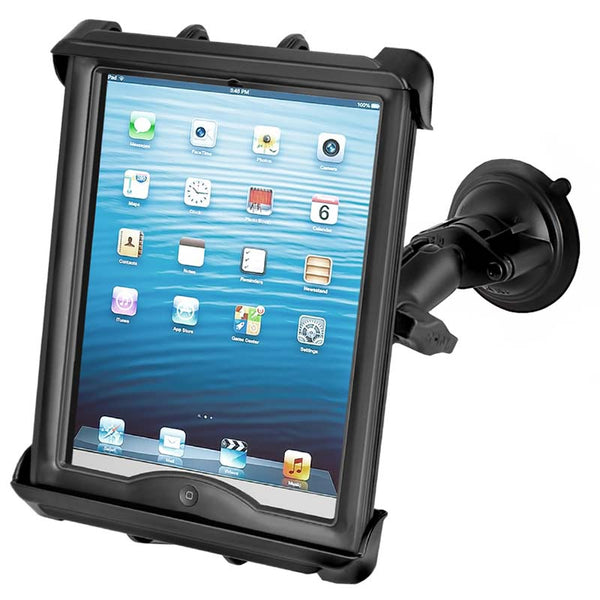 Ram - Suction Cup Mount With Tab-Tite Cradle For Large Tablets With Heavy Duty Cases | RAM-B-166-TAB8U