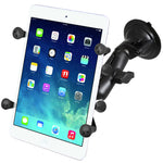 "Ram - Twist Lock Suction Cup Mount With Universal X-Grip II Holder 7"" Tablets 