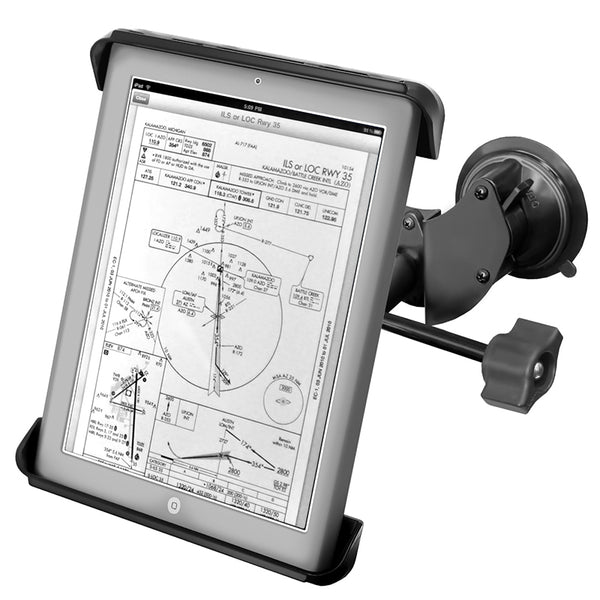 Ram - Double Twist Lock With Retention Knob & Tab-Tite Cradle For Ipad 1-4 | RAM-B-189-TAB3-ALA1-KRU