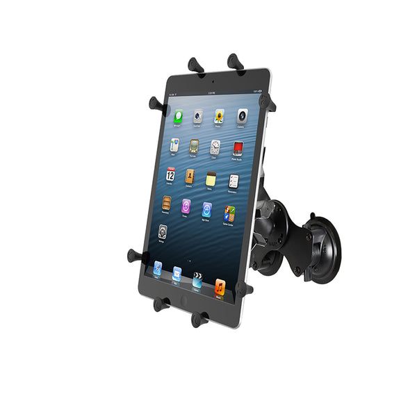 "Ram - Dual Twist Lock Suction Cup Mount With Universal X-Grip For 10"" Tablet 