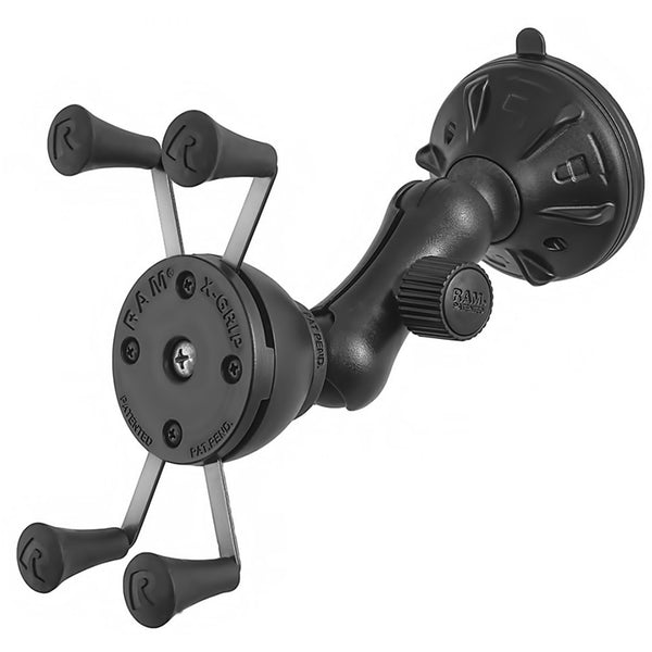 Ram - Composite Twist Lock Suction Cup Mount With Universal X-Grip  Cell/Iphone Holder | RAP-B-166-2-UN7U