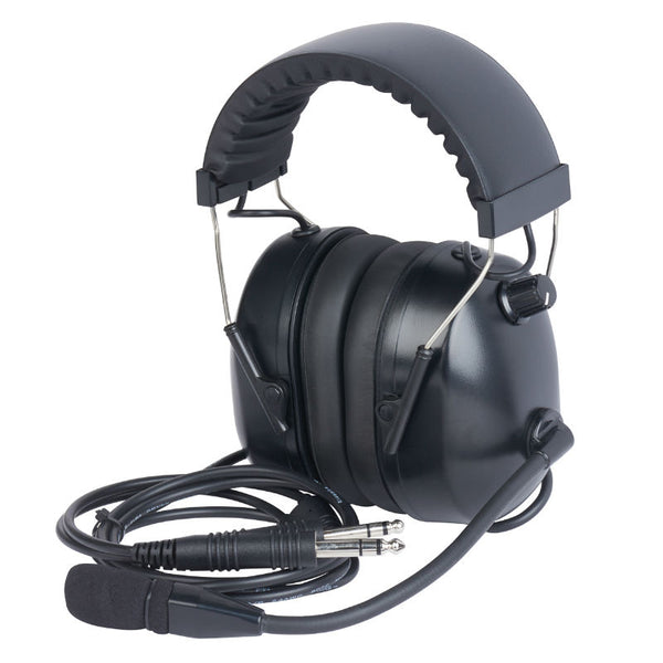 Wicom - Mono Aviation Headset, Black | AVHM10-BK
