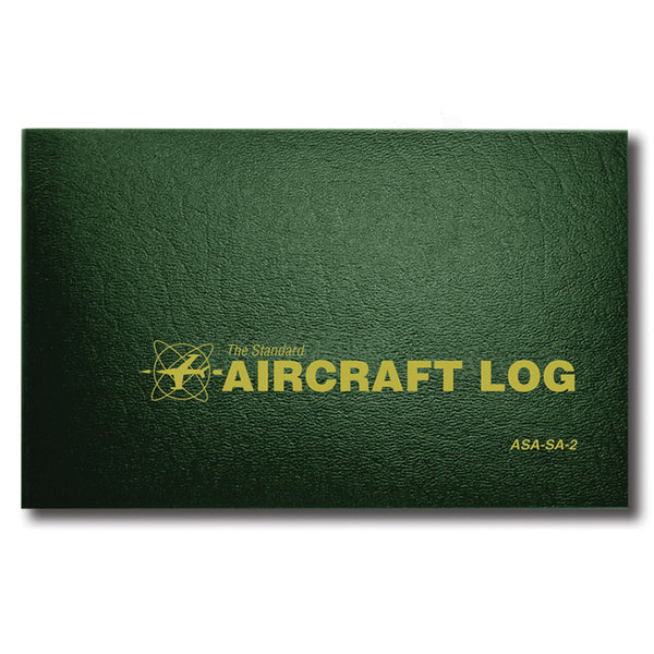 ASA - Aircraft Log , Green Hard Cover