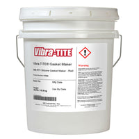 Vibra-Tite - 996 Red RTV Gasket Maker Silicone, 4.5gal